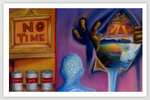 No Time - Pastel s/papel - 2002 - 100x80